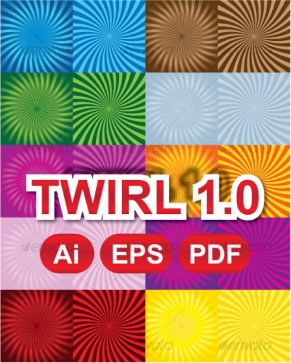 Twirl 1.0 (10 Gradients + 10 Solids) - Backgrounds Decorative
