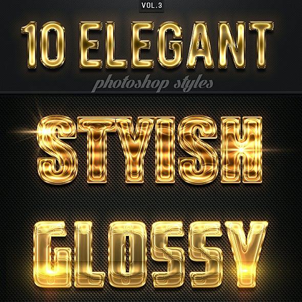 10 Elegant Photoshop Styles Vol.3