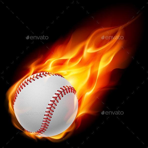 Baseball on Fire - Miscellaneous Vectors