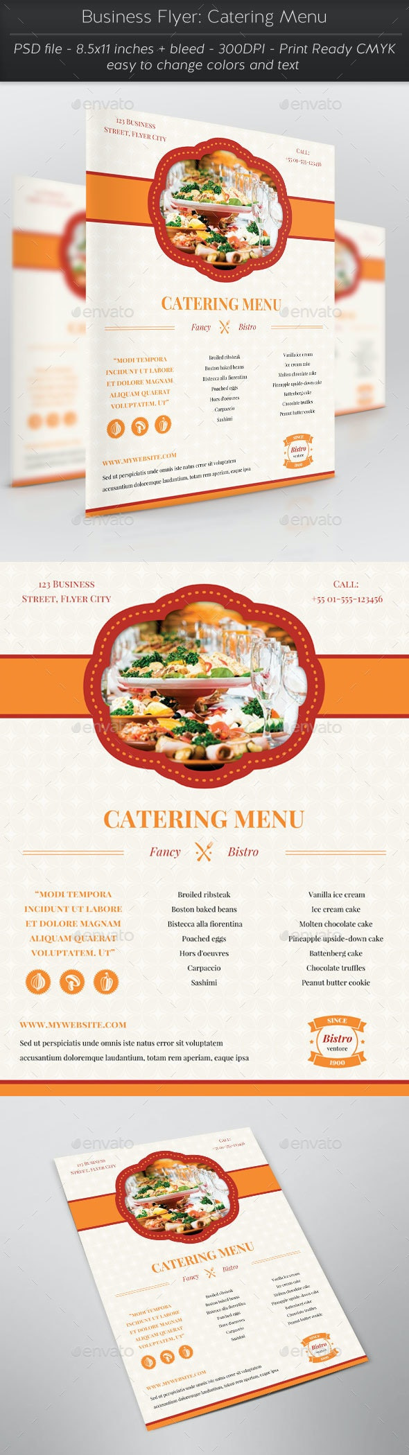 Business Flyer: Catering Menu