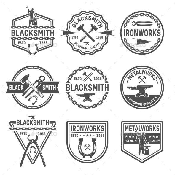 Ironworks Black and White Emblems