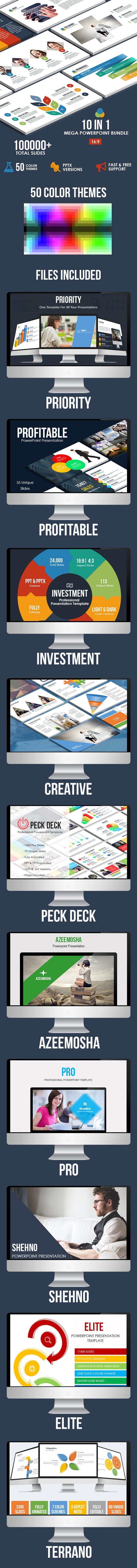 10 IN 1 - Mega Powerpoint Bundle - Business PowerPoint Templates