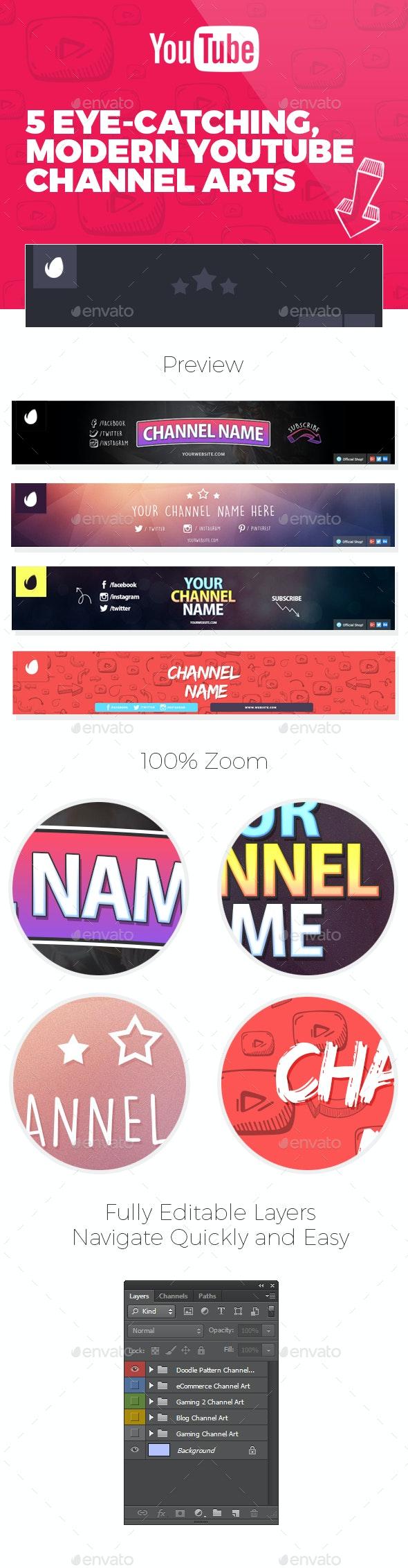 5 Youtube Channel Arts - YouTube Social Media