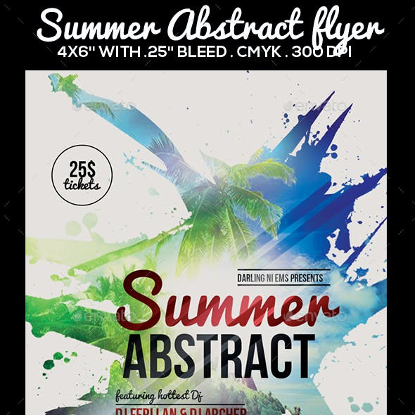 Summer Abstract Flyer