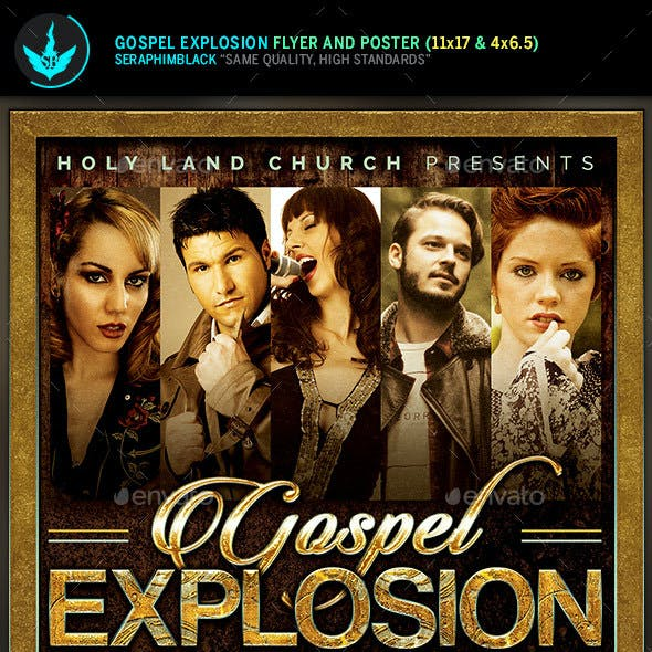 Gospel Explosion Church Concert Flyer Template