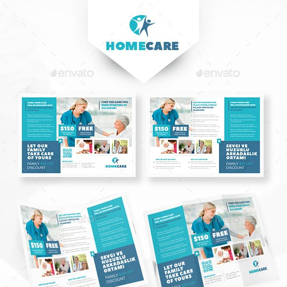 Home Health Care Tri-Fold Templates