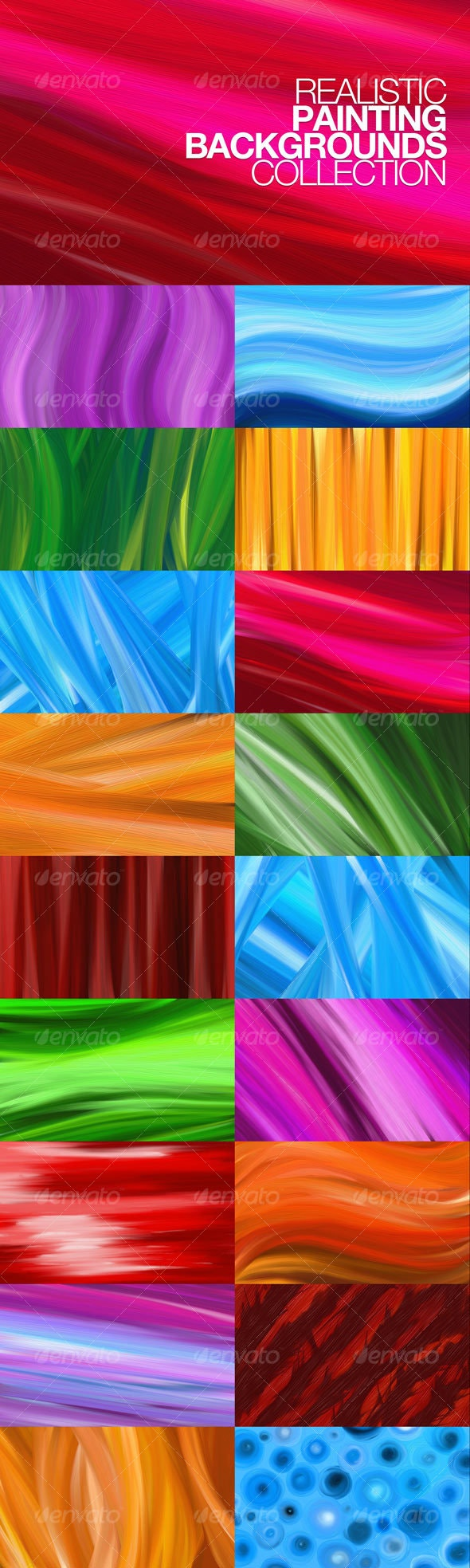 Realistic painting background collection   - Abstract Backgrounds