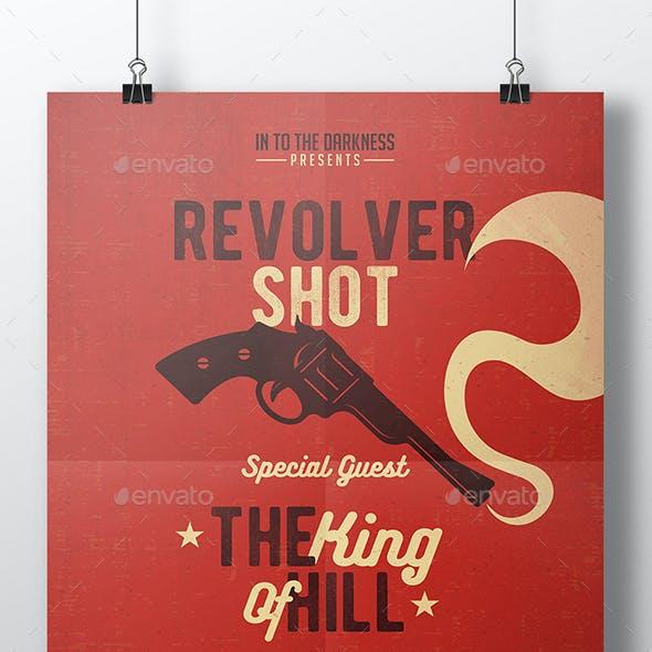 Revolver Shot Flyer Template