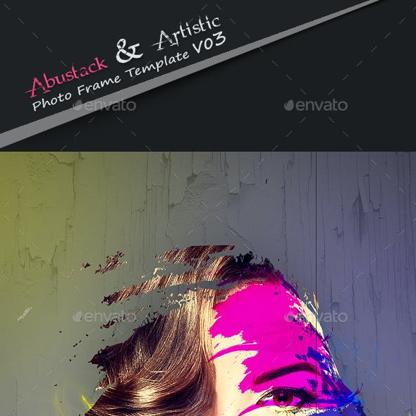 Abstrakt & Artistic Photo Frame Template v03
