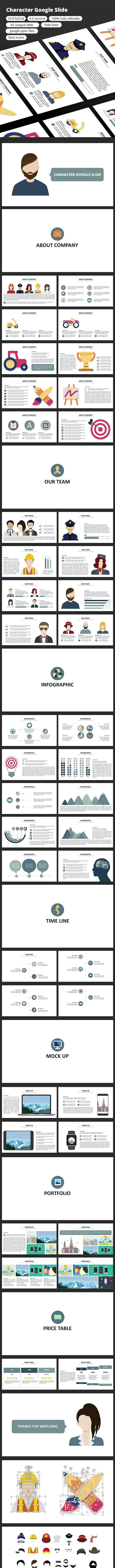 Character - Google Slide - Google Slides Presentation Templates
