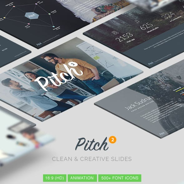 Pitch Vol.2 - Clean & Modern Keynote Template