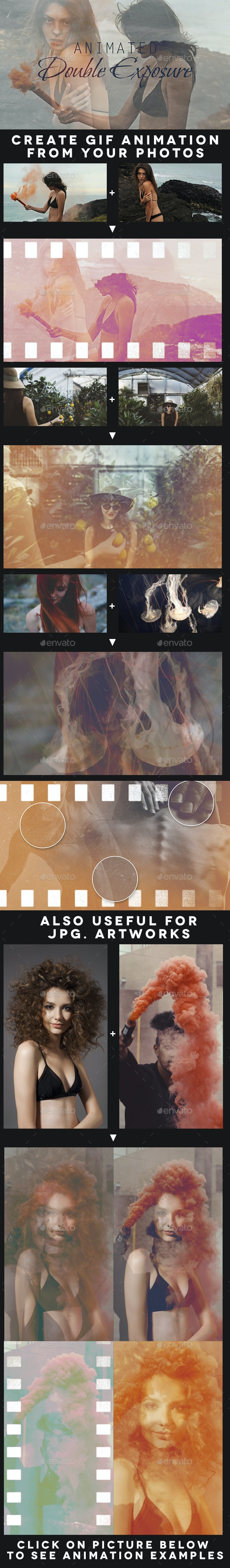 Animated Double Exposure Kit - Artistic Photo Templates