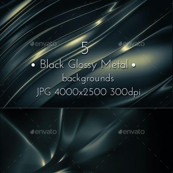 Black Metal Glossy Background