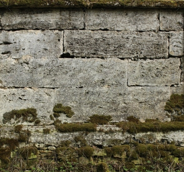 The Texture Of The Stones In Blank Wall.