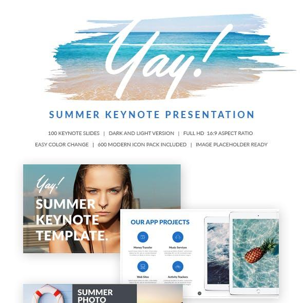 Yay Summer Keynote Presentation Template