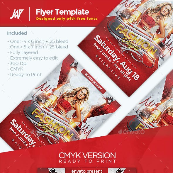 Fashion Night Event Flyer