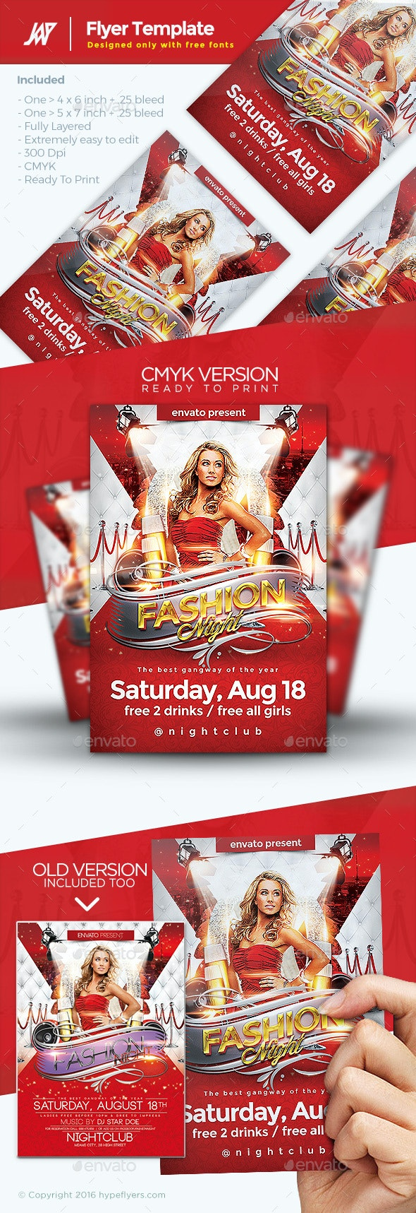 Fashion Night Event Flyer - Clubs & Parties Events