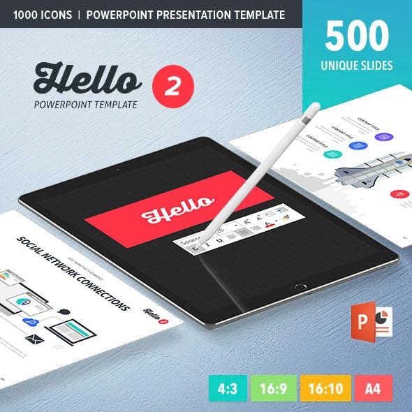 Hello 2 PowerPoint Presentation Template