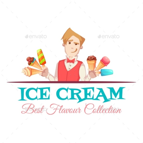 Ice Cream Vendor with Best Flavour Collection - People Characters