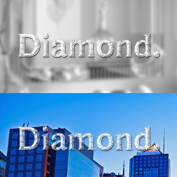 Diamond Text Effect & Style