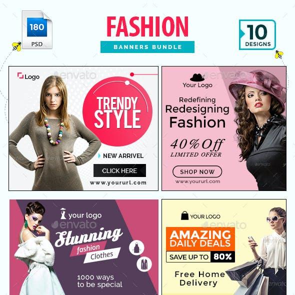 Fashion Banners Bundle - 10 Sets - 180 Banners
