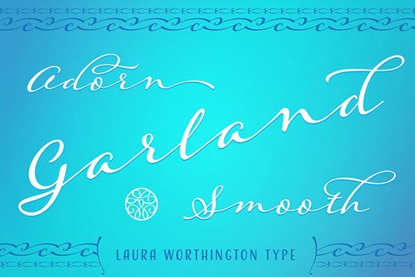 Adorn Garland Smooth - Script Fonts