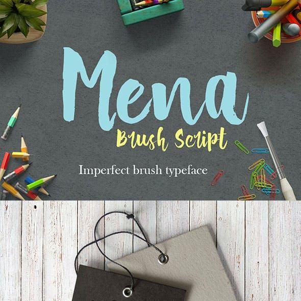 Mena Brush Script