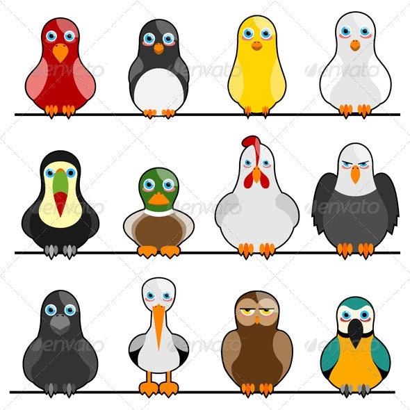 12 Cute Birds By Rocket400 Graphicriver