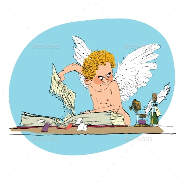 Bully Angel Pulls Out a Book Page