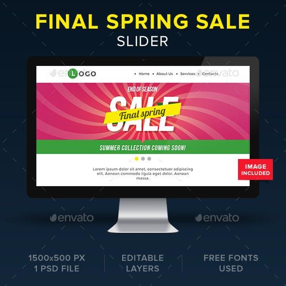 Final Spring Sale Slider