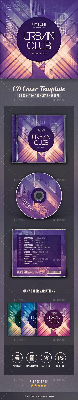 Urban Club CD Cover Artwork - CD & DVD Artwork Print Templates