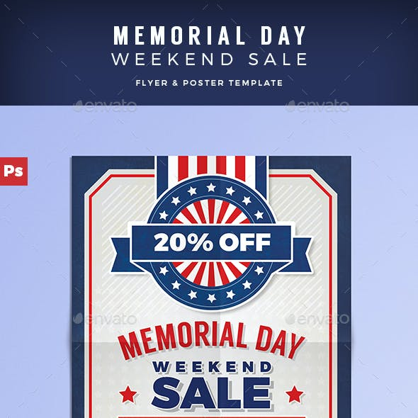 Memorial Day Sale Flyer/Poster