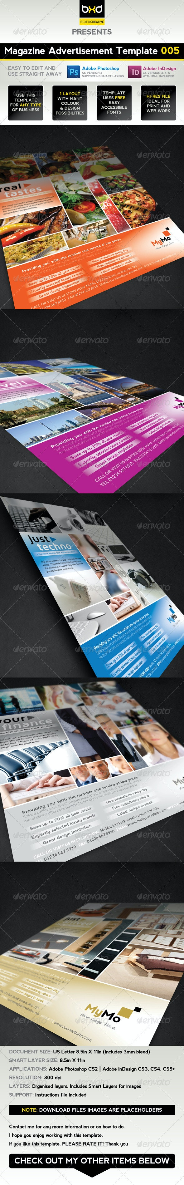 Magazine Advert Template 005 - Magazines Print Templates