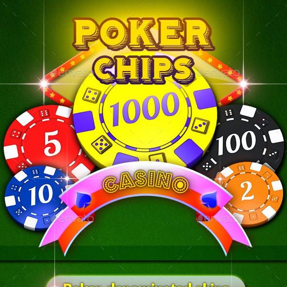 Poker Denominated Chips