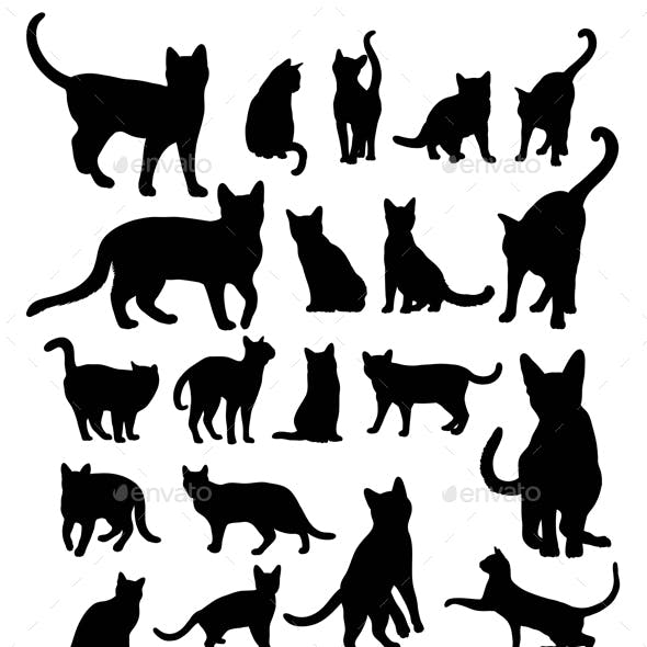 Cat Silhouettes Collection