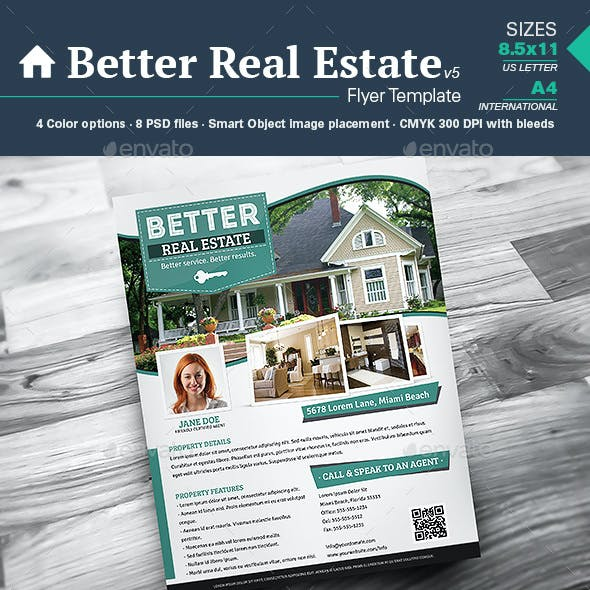 Better Real Estate Flyer Template v5