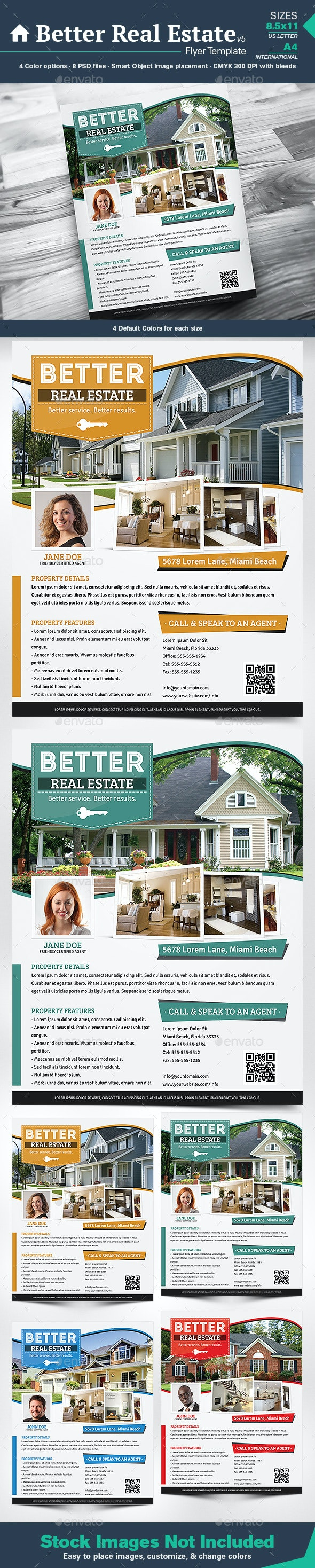 Better Real Estate Flyer Template v5 - Corporate Flyers