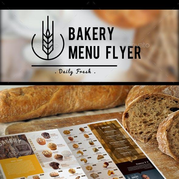 Bakery Menu Flyer