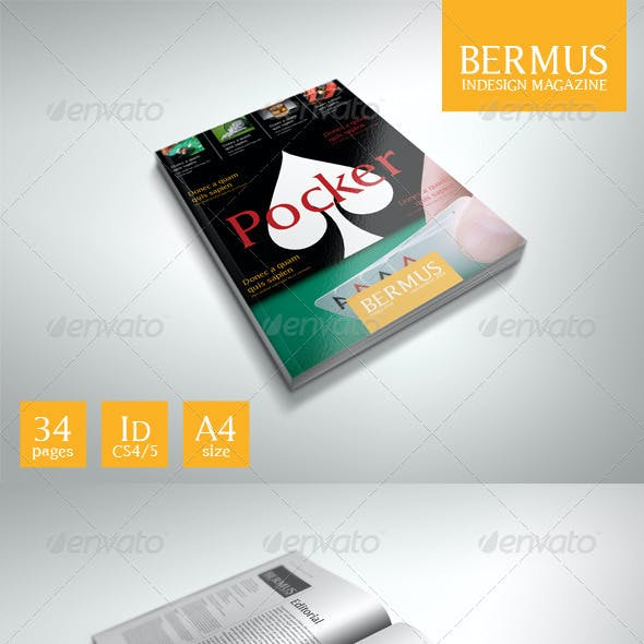 InDesign Magazine Template: Bermus