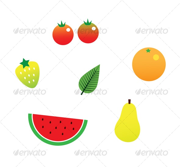 Pretty Fruits - Food Objects