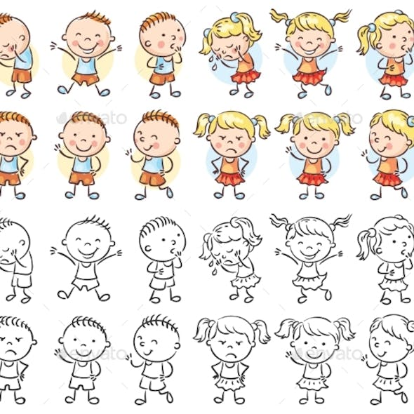 Set of Boy and Girl Characters