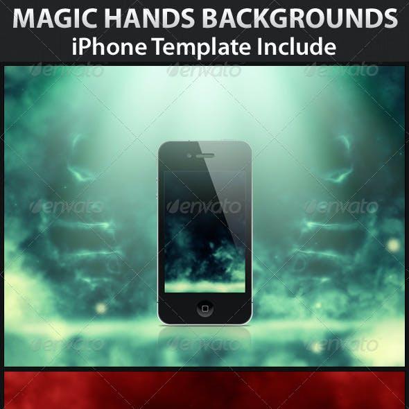 Magic Hands Backgrounds