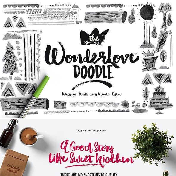 Wonderlove Doodle Sans & Script