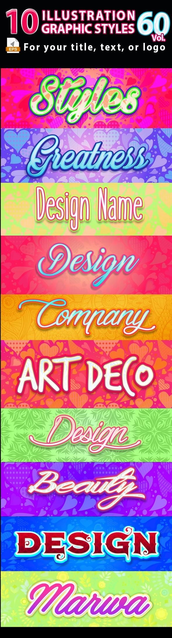 10 Illustrator Graphic Styles Vol.60 - Styles Illustrator