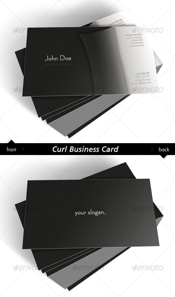 Curl Business Card - Creative Business Cards