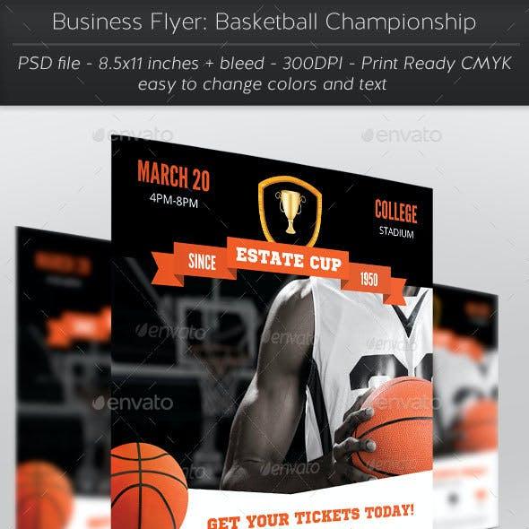 Business Flyer: Basketball Championship