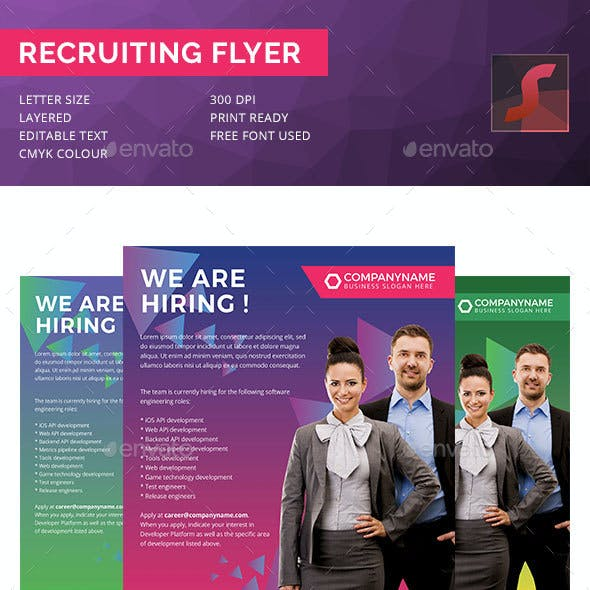 Recruiting Company Flyer