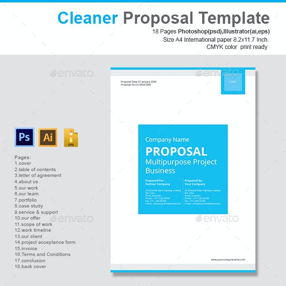 Cleaner Proposal Template