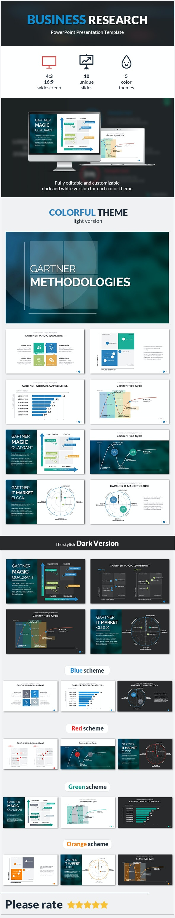 Business Research PowerPoint Template - PowerPoint Templates Presentation Templates