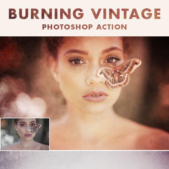 BURNING VINTAGE PHOTOSHOP ACTION